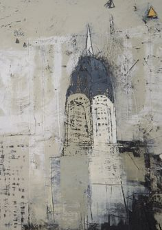 Por amor al arte: Paul Balmer Urban Landscape, Abstract Landscape, Landscape Paintings, Abstract Art, Building Painting, City Art, Painting Techniques, Unique Art, Kitsch