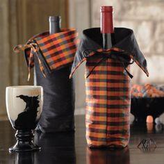 Halloween wine bags