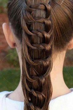 Lace braid pony tail style 2018