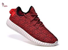 custom adidas yeezy boost 350 kanye west run sneakers athletic women shoes  red/white by customshoesworld on Etsy