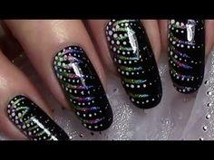 Silvesternägel / Einfaches Silvester Nageldesign / New Years Eve Nail Art Design Tutorial - YouTube