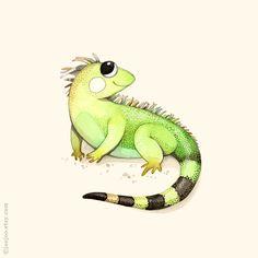 ABC animales I es para Iguana bebé vivero decoración por joojoo