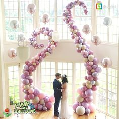 REPOST from Fun Fridays! How gorgeous and dreamlike is this euphoric backdrop by Balloons have… Balloon Backdrop, Balloon Columns, Balloon Garland, Balloon Balloon, Balloon Display, Colourful Balloons, White Balloons, Wedding Scene, Arch Wedding