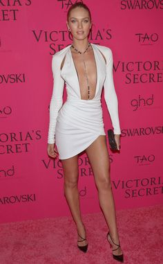 See Candice Swanepoel's Ultra Revealing Low-Cut Dress! - Candice Swanepoel Wears Ultra Revealing Low-Cut Dress to Victoria's Secret Fashion Show Party Ca - Victorias Secret Models, Victoria Secret Fashion Show, Low Cut Dresses, Sexy Dresses, Prom Dresses, Victoria Secrets, Candice Swanepoel Style, Fashion Show Party, Vs Models