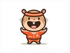 Kampster mascot design - http://www.kampster.com/