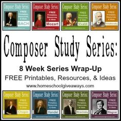 Study Series: 8 Week Series Wrap-Up! Composer Study Wrap Up Series!Composer Study Wrap Up Series! Classical Education, Music Education, Physical Education, Health Education, Education Quotes, Classical Music, Piano Lessons, Music Lessons, Middle School Music