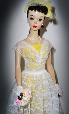 1961 Orange Blossom Barbie - Yep, this was my girl, black pony tail and this outfit, such good memories.