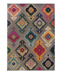 Take a look at this Gray Floral Diamond Prismatic Spectrum Rug by Oriental Weavers on #zulily today!