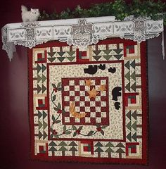 Cozy Cabins Quilted Table Topper Pattern
