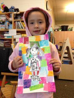 Kindergarten self-portraits – Crafts Kindergarten Self Portraits, Kindergarten Art, Preschool Art, Art 2nd Grade, Classe D'art, Jr Art, Ecole Art, School Art Projects, Art Lessons Elementary