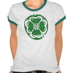Lucky Clover Women's Ringer T-Shirt; Abigail Davidson Art