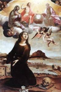 Santa Rosalia libera dalla peste la città olio su tela di Vincenzo La Barbera #cheapaccommodationpalermo #b&bpalermo www.piccolasicilia.it