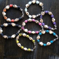 Choose Color/Size Skull bracelet by MTV's Cara by MissCaraMaria, $12.00