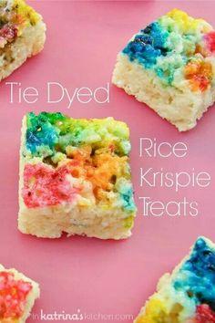 Tie Dyed Rice Krispie Treats