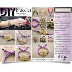 """""""Hex Nut Bracelet"""" by ania-d on Polyvore"""
