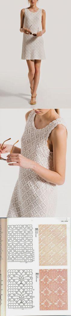 Crochetemoda: Vestido Branco de Crochet   Вязание для детей   Постила