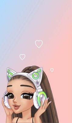 Wall Paper Celular Fofo Menina Ideas For 2019 Ariana Grande Anime, Ariana Grande Drawings, Ariana Grande Fotos, Emoji Wallpaper, Cute Disney Wallpaper, Wallpaper Iphone Cute, Cute Wallpapers, Ariana Grande Background, Ariana Grande Wallpaper