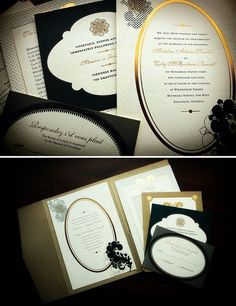 Guilded French Wedding Invitation