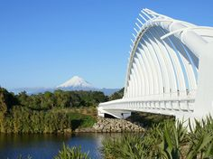 Mount Taranaki from the New Plymouth coastal walkway.