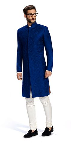 Elegant wedding suits for grooms to make sure you are at your stylish best on your big day. Take a look at hundreds of groom clothing designs at https://www.herringboneandsui.com/. #MensFashionIndian