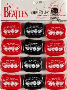 beatles   display card | 46203: Beatles Coin Holders: Twelve on Original Display