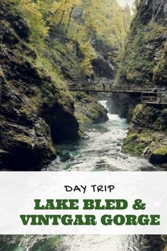 A great day trip from Ljubljana is to Lake Bled and Vintgar Gorge