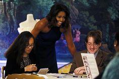 "Michelle Obama Wear Spanx ""With Pride"" during the Fashion Education Workshop  #Fashion, #JenniferGarner, #MichelleObama, #NatalyaKoval, #VeraWang"