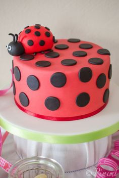 Some time ago my little big one had your day. - Some time ago my little big one had your day. Now she is four years old. Time flies so fast. Fancy Cakes, Cute Cakes, Beautiful Cakes, Amazing Cakes, Fondant Cakes, Cupcake Cakes, Ladybug Party, Food Humor, Macaron