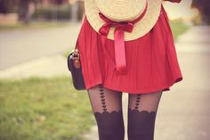 another red skirt