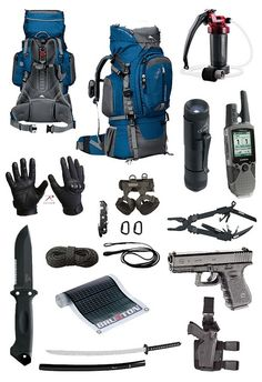 Zombie Apocalypse Survival Kit for when your out scouting ahead
