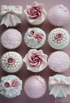 Pretty Wedding Or Shower Cupcake Idea ♡