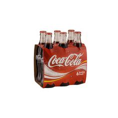 Coca Cola Glass Bottles (6x330ml) in ASDA Price Comparison  ... (6.47 CAD) ❤ liked on Polyvore featuring food, drinks, fillers, food and drink and food & drinks