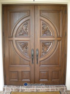 Custom Door Shop's professional sales staff provides tailored services to homeowners, architects, designers, builders and general contractors providing hurricane impact door systems and thousands of different wood styles. Wooden Glass Door, Wooden Front Door Design, Wooden Double Doors, Modern Wooden Doors, Double Door Design, Door Gate Design, Door Design Interior, Wood Front Doors, Wooden Leg