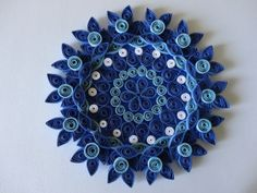 Paper Quilled Floral Candle Holder or wall decor by IvyArtWorks, $14.00