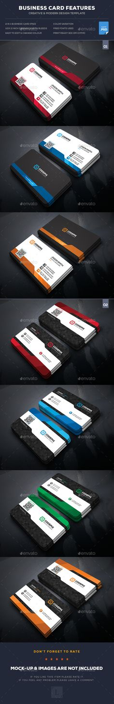 341 best creative business cards images on pinterest business buy corporate business card bundle by uxcred on graphicriver features easy customizable and editable business card in with bleed cmyk color design in 300 accmission Image collections