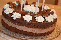 Kinderschokolade-Torte, ein leckeres Rezept aus der Kategorie Backen. Bewertungen: 22. Durchschnitt: Ø 4,5.
