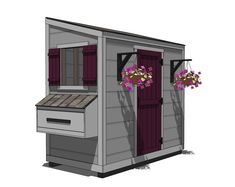 Ana White Build a Shed Chicken Coop Free and Easy DIY Project and Furniture Plans Chicken Barn, Diy Chicken Coop Plans, Portable Chicken Coop, Backyard Chicken Coops, Building A Chicken Coop, Building A Shed, Chickens Backyard, Chicken Houses, White Chicken