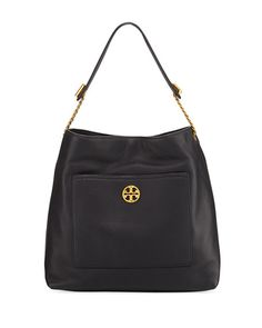 TORY BURCH . #toryburch #bags #shoulder bags #leather #hobo #lining #