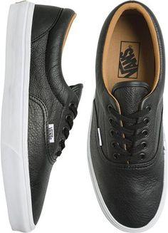 Vans leather shoe. http://www.swell.com/December-Catalog-Mens/VANS-ERA-LEATHER-SHOE?cs=BL