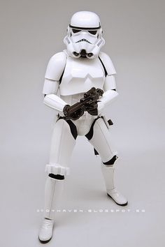 """continued from previous post ."""" IMHO The Stormtrooper is so beautiful in its design, for lack of a better word. E 11 Blaster, Sideshow Star Wars, Imperial Stormtrooper, The Trooper, Star Wars Episode Iv, Imperial Army, A New Hope, Star Wars Characters, For Stars"""