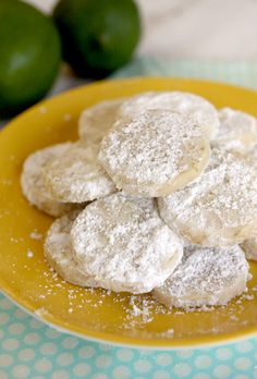 Lime Meltaway Cookies.  SO good, they literally melt in your mouth!
