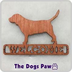 Laser Cut Beagle Wood Welcome Sign  #beagle #shopthedogspaw
