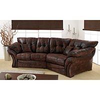 Contemporary Bison Brown 3 Seater Cosy Sofa - homeinteriorshopper.co.uk