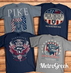 Metropolis Graphics is the nations number one choice for Custom Greek T-shirts. Check out our awesome collection of fraternity and sorority T shirt ideas.