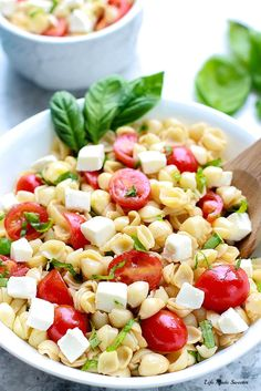Caprese Pasta Salad makes a light and refreshing summer side dish perfect for potlucks
