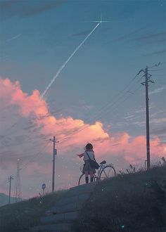Discovered by SHΔCHI. Find images and videos about art, anime and manga on We Heart It - the app to get lost in what you love. Fantasy Magic, Fantasy Art, Aesthetic Anime, Aesthetic Art, Arte Obscura, Anime Scenery, Jolie Photo, Anime Art Girl, Aesthetic Wallpapers
