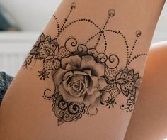 "lace garter tattoo design - ""Amazing Tattoo starts with a quality drawing first … "" All our tattoo designs are authentic - Lace Garter Tattoos, Anklet Tattoos, Wrist Tattoos, Foot Tattoos, Body Art Tattoos, Lace Rose Tattoos, Tattoo Placement Foot, Lace Sleeve Tattoos, Maori Tattoos"
