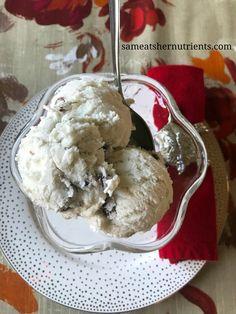 Rum Raisin Bowl of Dairy Free Ice Cream - Get the recipe and make it! Gluten Free, Dairy Free, Egg Free - Deliish!