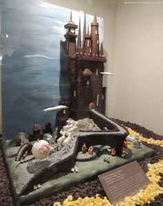 Castle themed chocolate sculpture at the 2012 Epcot International Food & Wine Festival. Disney World.