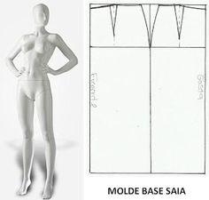 Moldes Moda por Medida: MOLDE BASE SAIA